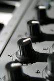 Perillas de control del sonido Imagenes de archivo