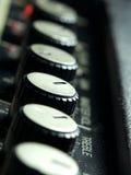 Perillas del amplificador Fotografía de archivo