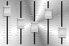 Perillas del resbalador del volumen Imagen de archivo libre de regalías