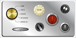 Perillas y botones de la vendimia fijados stock de ilustración