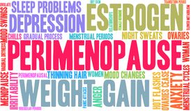 Perimenopause Word Cloud. On a white background royalty free illustration