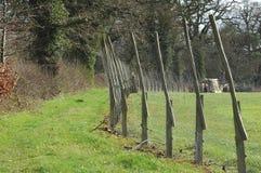 Perimeter fencing 2. Perimeter fencing around farmland meadow royalty free stock photography