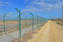 Perimeter High Security Fencing Royalty Free Stock Photos