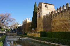 Perimeter walls of the old city of Cordoba, Spain Stock Images