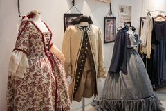 Period costumes at Weekend Donna 2013 in Milan, Italy Stock Photos