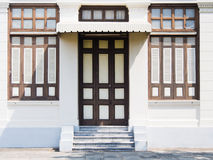A Period door and window on the facade. In thailand stock photo