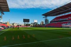 Period för utbildning för landslag för ` s för Kanada fotbollmän Royaltyfria Bilder