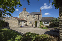 Period Property - Yorkshire - England. A stone-built period property (dates from 1823) in a small village in North Yorkshire in the United Kingdom. (Property Royalty Free Stock Image