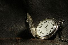 Chained Pocket Watch, antique clock stock photography