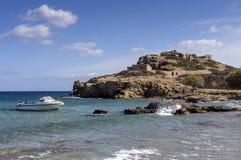Periode van Minoan van de Itanos de Dorische stad op een zonnige dag Sitia, eiland Kreta, Griekenland royalty-vrije stock afbeelding