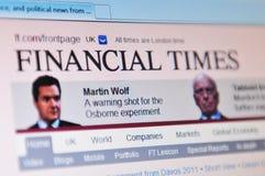 Periodi finanziari Fotografia Stock