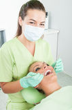 Periodic dental exam Stock Photo