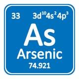 Periodic table element arsenic icon. Periodic table element arsenic icon on white background. Vector illustration vector illustration