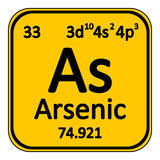 Periodic table element arsenic icon. Stock Photography