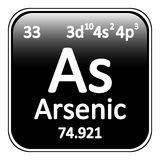 Periodic table element arsenic icon. Royalty Free Stock Photo