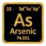 Periodic table element arsenic icon. Periodic table element arsenic icon on white background. Vector illustration royalty free illustration
