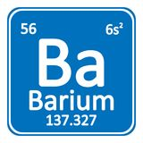 Periodic table element barium icon. Royalty Free Stock Images