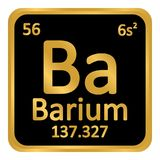 Periodic table element barium icon. Royalty Free Stock Photography