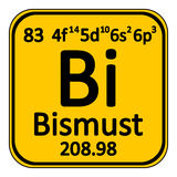Periodic table element bismuth icon. Royalty Free Stock Photo