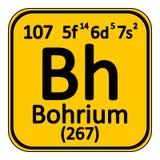Periodic table element bohrium icon. Royalty Free Stock Photo