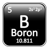 Periodic table element boron icon. Royalty Free Stock Photography