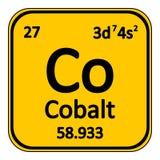 Periodic table element cobalt icon. Stock Photo
