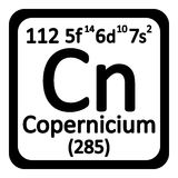 Periodic table element copernicium icon. Stock Photos