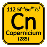 Periodic table element copernicium icon. Stock Photo