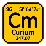 Periodic table element curium icon. Royalty Free Stock Photography