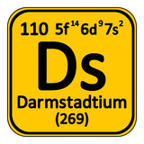 Periodic table element darmstadtium icon. Royalty Free Stock Photography