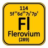 Periodic table element flerovium icon. Royalty Free Stock Photography