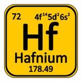 Periodic table element hafnium icon. Royalty Free Stock Photos