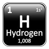 Periodic table element hydrogen icon. Stock Image