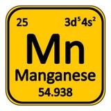 Periodic table element manganese icon. Royalty Free Stock Photo