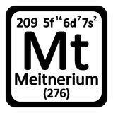 Periodic table element meitnerium icon. Stock Photography