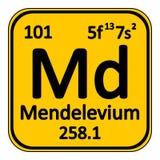 Periodic table element mendelevium icon. Stock Photo