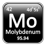 Periodic table element molybdenum icon. Royalty Free Stock Images
