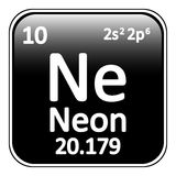 Periodic table element neon icon. Stock Photo
