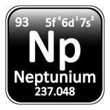 Periodic table element neptunium icon. Stock Photos