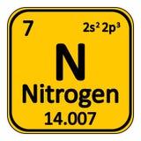 Periodic table element nitrogen icon. Royalty Free Stock Photography