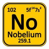 Periodic table element nobelium icon. Stock Photo