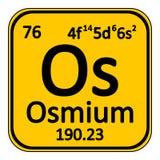 Periodic table element osmium icon. Stock Images
