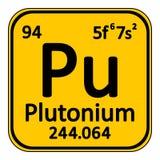 Periodic table element plutonium icon. Royalty Free Stock Photography