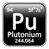 Periodic table element plutonium icon. Stock Image