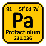 Periodic table element protactinium icon. Royalty Free Stock Photo