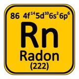 Periodic table element radon icon. Stock Images