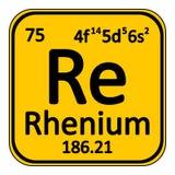 Periodic table element rhenium icon. Stock Image