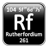 Periodic table element rutherfordium icon. Royalty Free Stock Photos