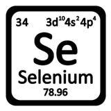 Periodic table element selenium icon. Stock Photography