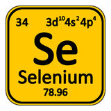 Periodic table element selenium icon. Stock Photos